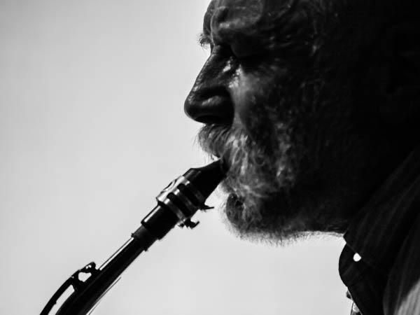 Peter Brotzmann fot. Peter Gannushkin
