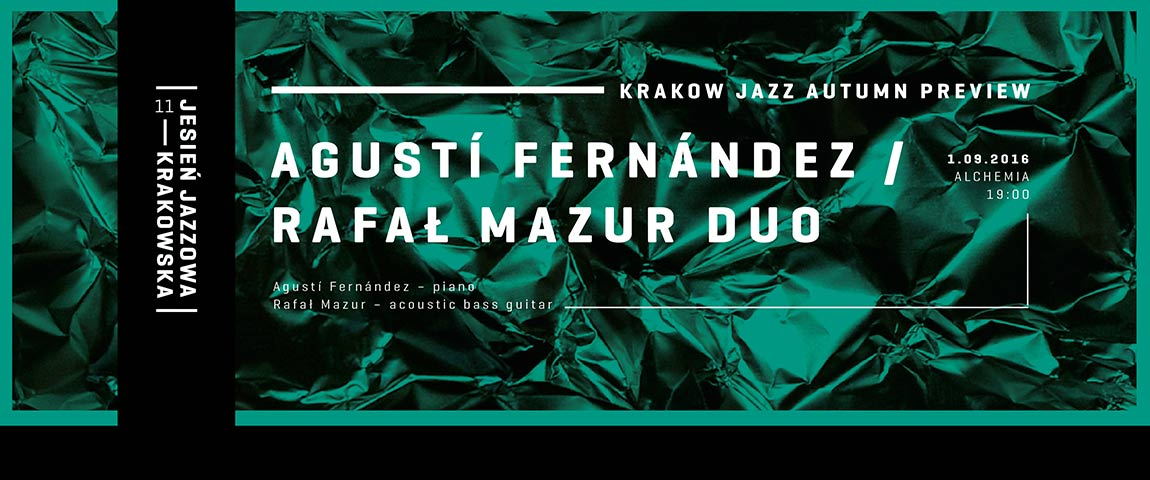 Krakow Jazz Autumn Preview – Agustí Fernández & Rafał Mazur Duo